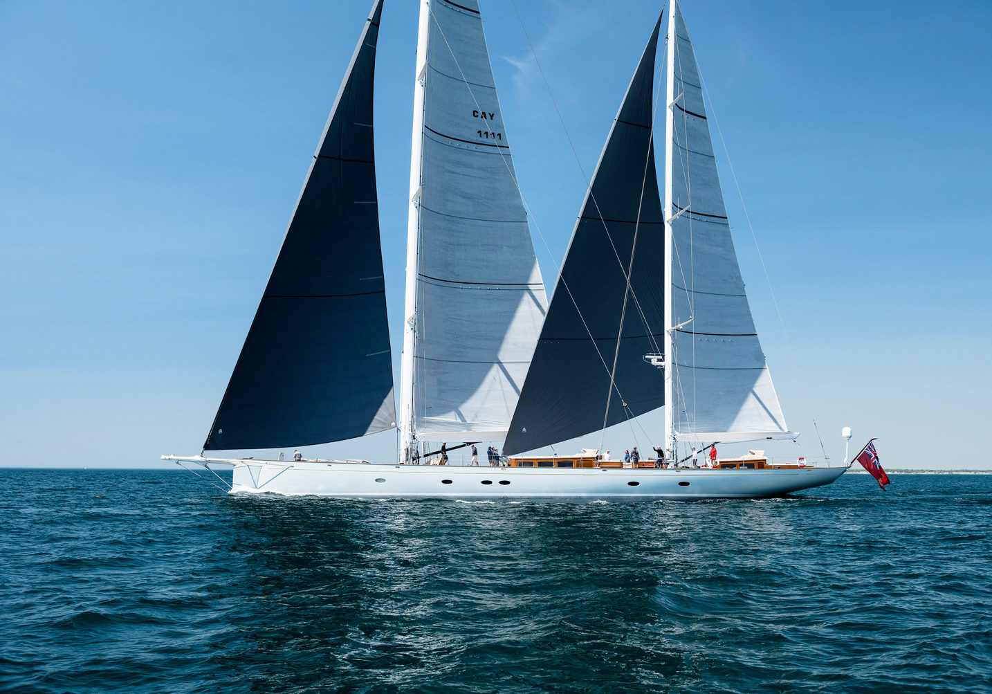Sailing Yacht Elfje sail testing sea trials with Doyle Sails.